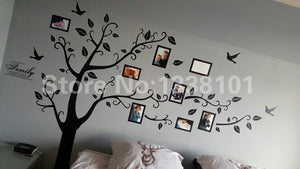 WEEKLY DEAL - 3D DIY Photo Tree PVC Wall Decals/Adhesive Family Wall Stickers
