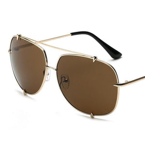 WEEKLY DEAL - HBK Fashion Oversized Pilot Sunglasses
