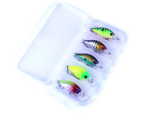 WEEKLY DEAL - HENGJIA 5pc Little Bill Crankbait Set