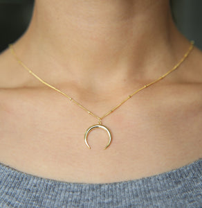 WEEKLY DEAL - Delicate Moon Pendant Necklace
