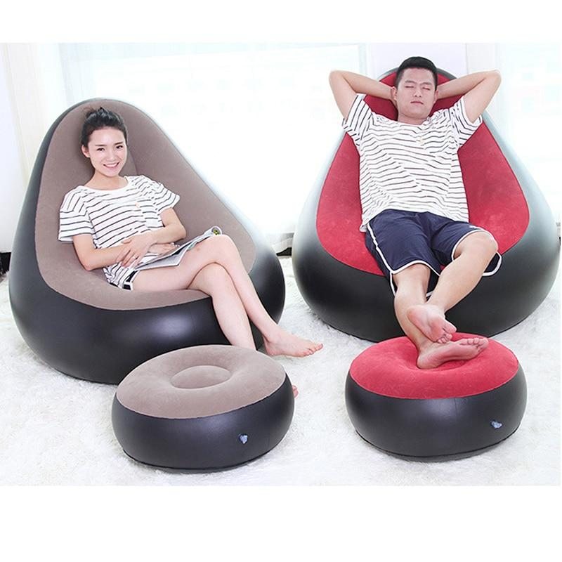 Weekly Deal Inflatable Chair Ottoman Beanbag Sofa Cushion For