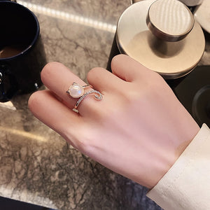 WEEKLY DEAL - Adjustable Stainless Steel Rings For Women Simple Temperament