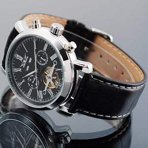 WEEKLY DEAL - JARAGAR Full Calendar Tourbillon Auto Mechanical Mens Watches