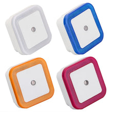 WEEKLY DEAL - Light Sensor Control Night Light Mini EU US Plug Novelty Square Bedroom lamp