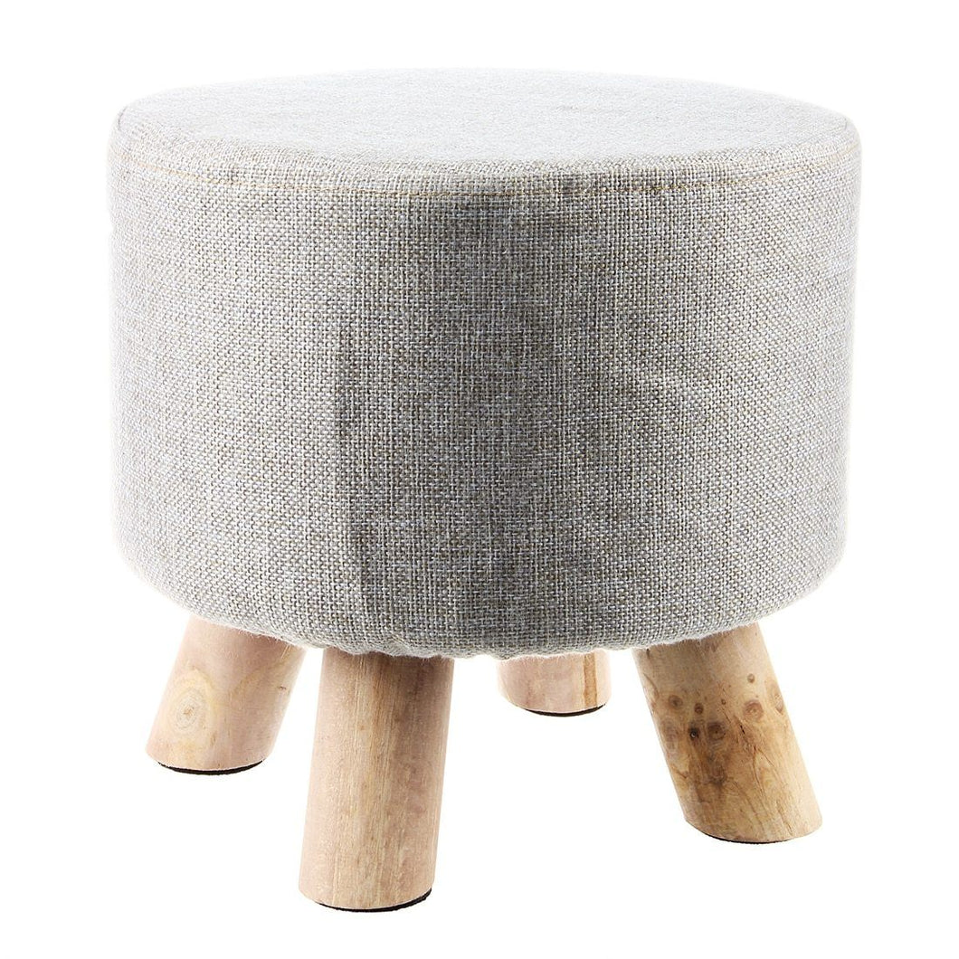WEEKLY DEAL - Modern Luxury Upholstered Footstool Round Pouffe Stool
