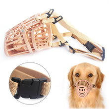 WEEKLY DEAL - Pet Dog Adjustable Plastic Brown Muzzle