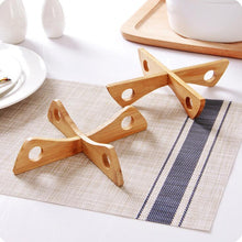WEEKLY DEAL - Tray Rack Detachable Wood Table Mat