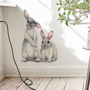 WEEKLY DEAL - Two cute rabbits Wall sticker