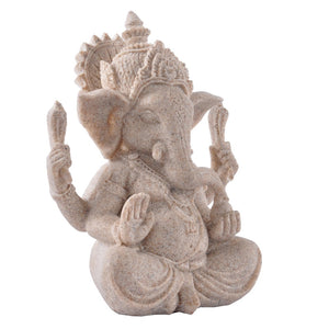 WEEKLY DEAL - Vintage Sandstone Elephant Indian Ganesha Sculpture