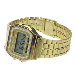 Vintage Men Stainless Steel Digital Alarm Stopwatch Wrist Watch