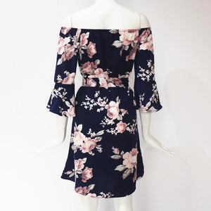 WEEKLY DEAL - Floral Print Butterfly Chiffon Dress