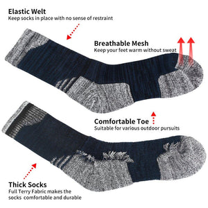 WEEKLY DEAL - YUEDGE Brand High Quality Men's 3 Pairs Antiskid Wicking Cotton Socks