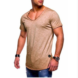 WEEKLY DEAL - Men's Cotton Deep Neck Shirt