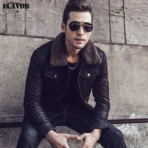 WEEKLY DEAL - FLAVOR Military Leather Bomber Jacket