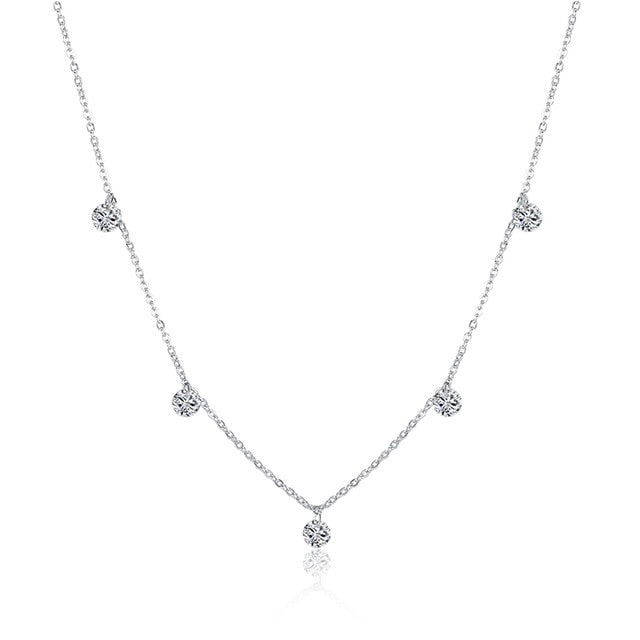 WEEKLY DEAL - Silver Choker Rhinestone star pendant Necklace