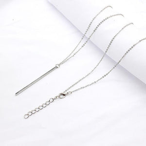 WEEKLY DEAL - Simple Classic fashion Stick Pendant Necklace