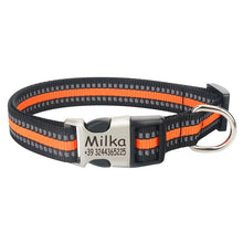 WEEKLY DEAL - FLOWGOGO Reflective Nylon Personalized Engraved Dog Collar
