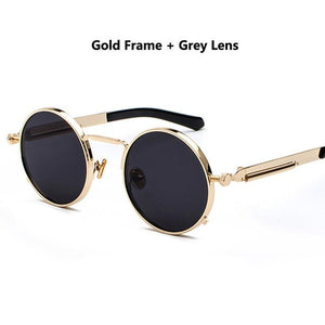 WEEKLY DEAL - DIGUYAO 2018 Classic Round Steampunk Sunglasses