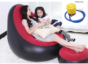 WEEKLY DEAL - Inflatable Chair Ottoman Beanbag Sofa Cushion For Living Room Outdoor Pouf Puff Seat Chair with Inflator Pump