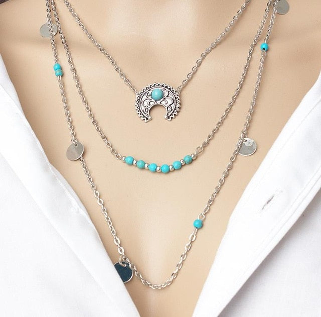 WEEKLY DEAL - Bohemian Wild Moon Necklace