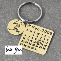 WEEKLY DEAL - Personalized Calendar Keychain