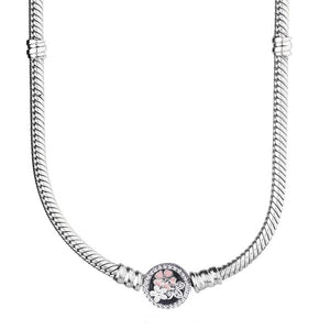 WEEKLY DEAL - Poetic Blooms Chain 925 Sterling Silver Necklace