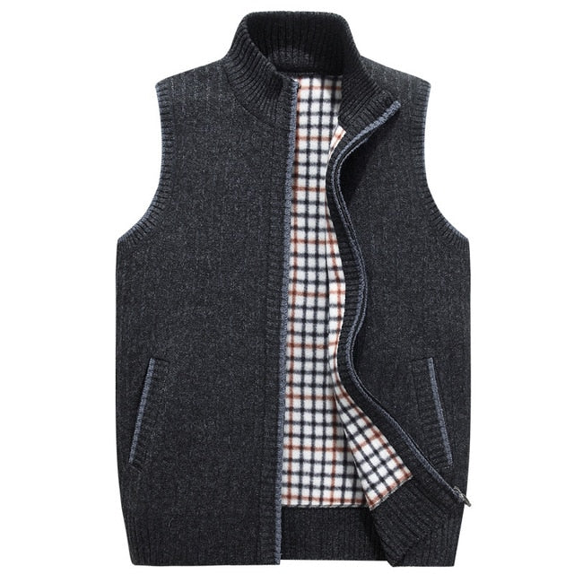 WEEKLY DEAL - Autumn Winter Sweater Vest Men Fleece