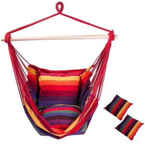WEEKLY DEAL - Hanging Chair Hammock with Pillows