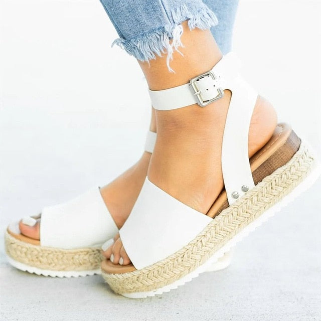 WEEKLY DEAL - Women's Stitch Wedge Sandals