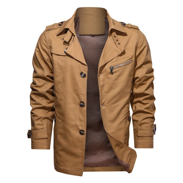WEEKLY DEAL - COMMUTER Men's Single Breasted Trench Coat