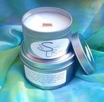 Soy Wax, Wood Wick Candle Tins
