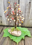 Mookaite Antique Brass Wire Tree with Moss