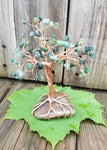 Moss Agate Copper Wire Tree