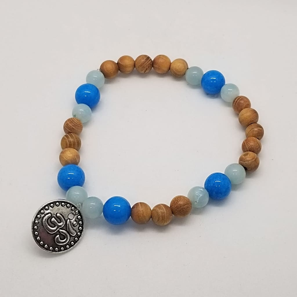 Amazonite Cedar Wood & Mountain Jade - Crystal Bead Bracelets