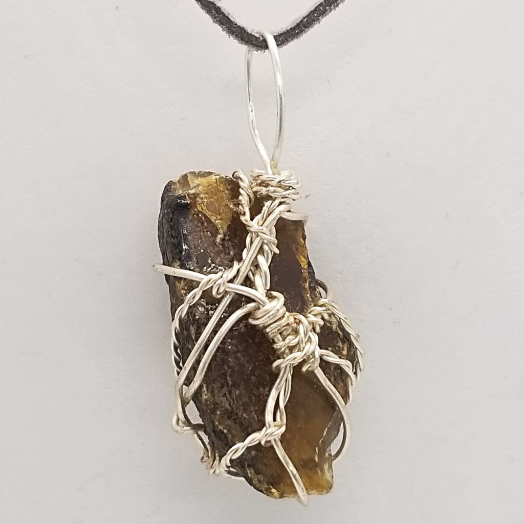 Black Amber - Wire Wrap