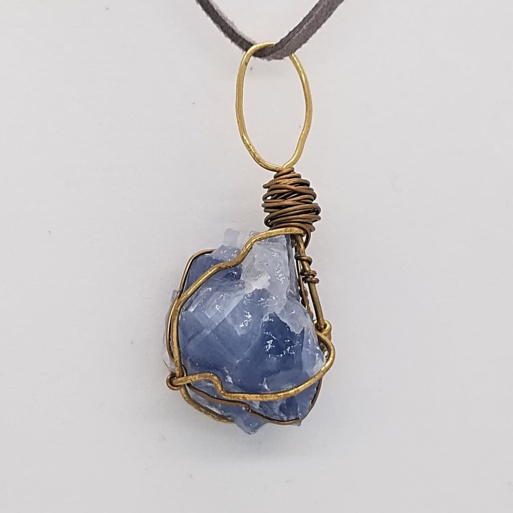 Blue Calcite - Wire Wrap