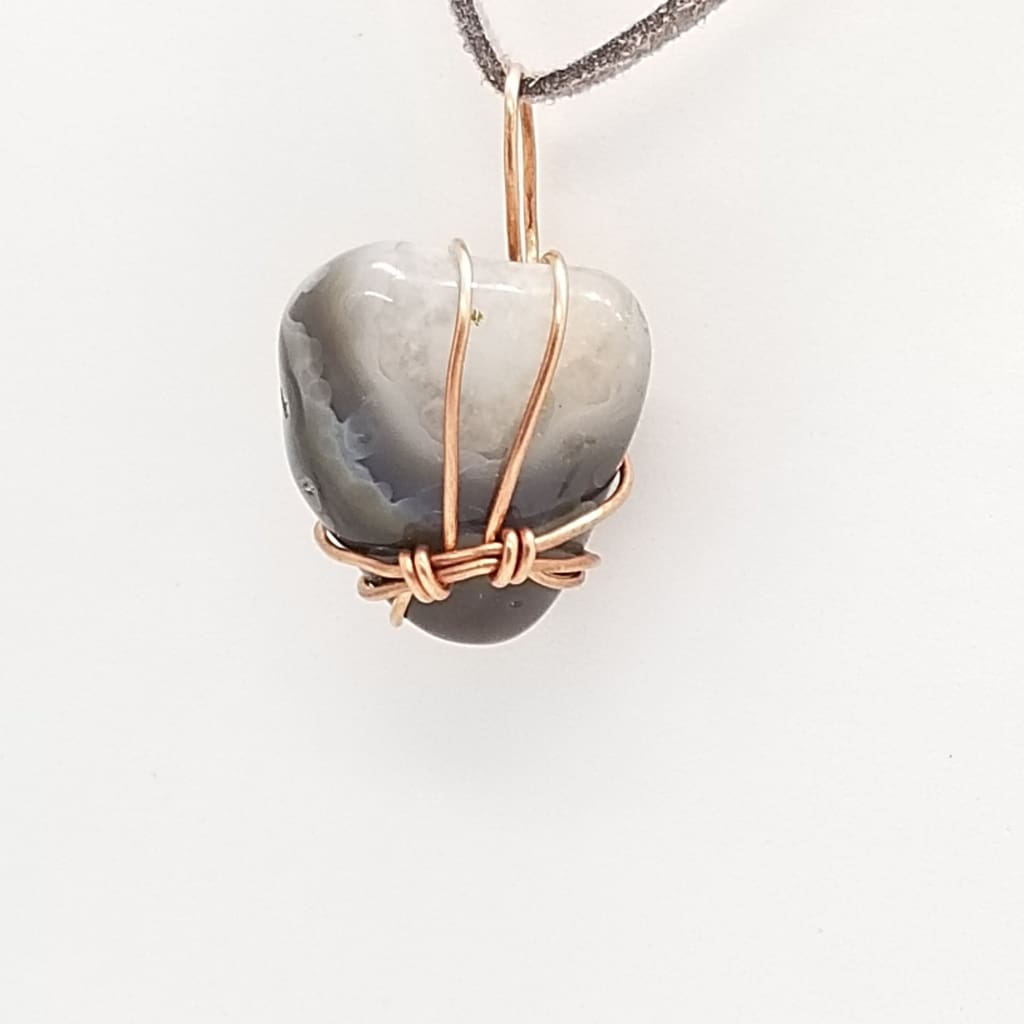 Botswana Agate - Tumbled - Wire Wrap
