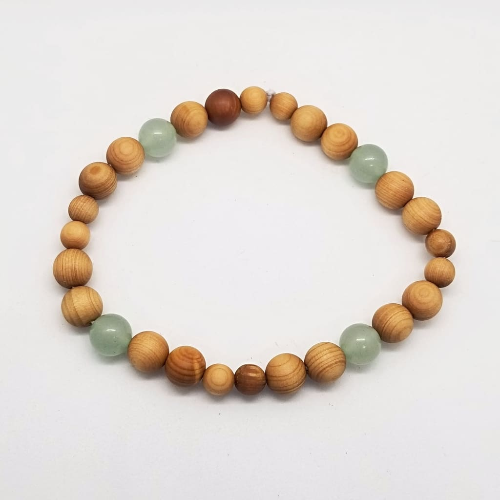 Cedar Wood & Green Aventurine
