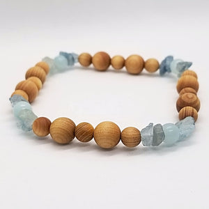 Cedarwood Aquamarine & Amazonite