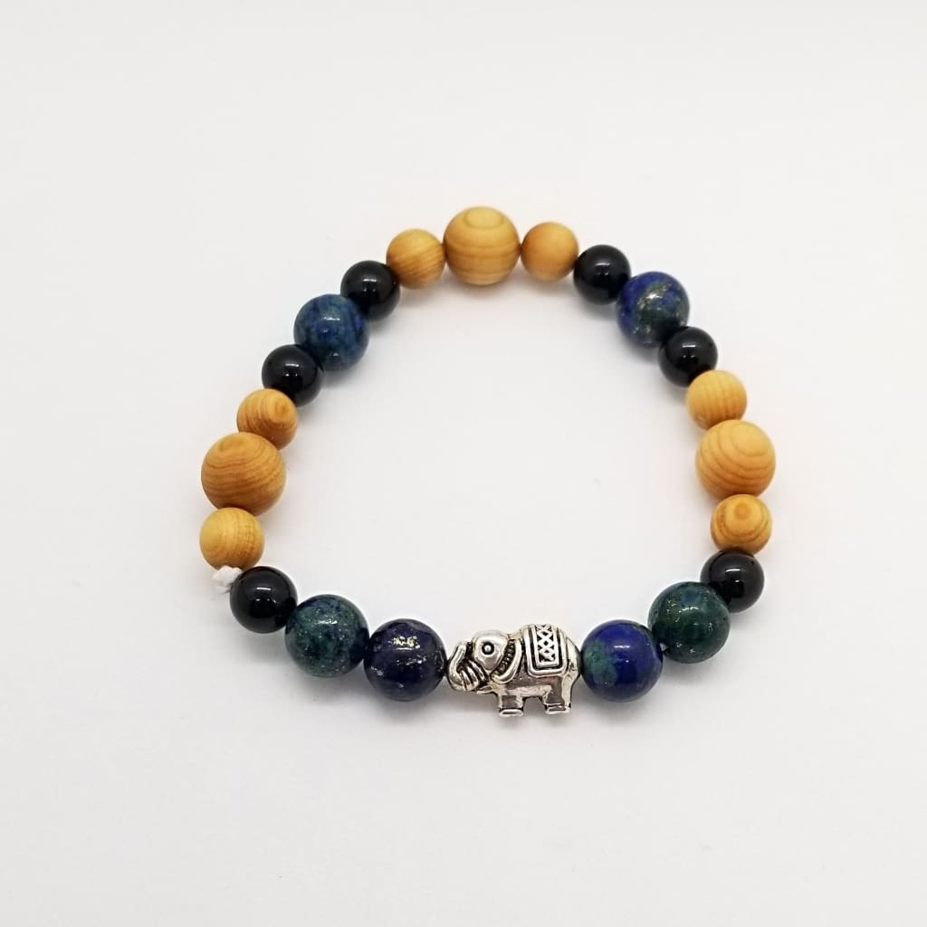Cedarwood Black Onyx & Chrysocolla