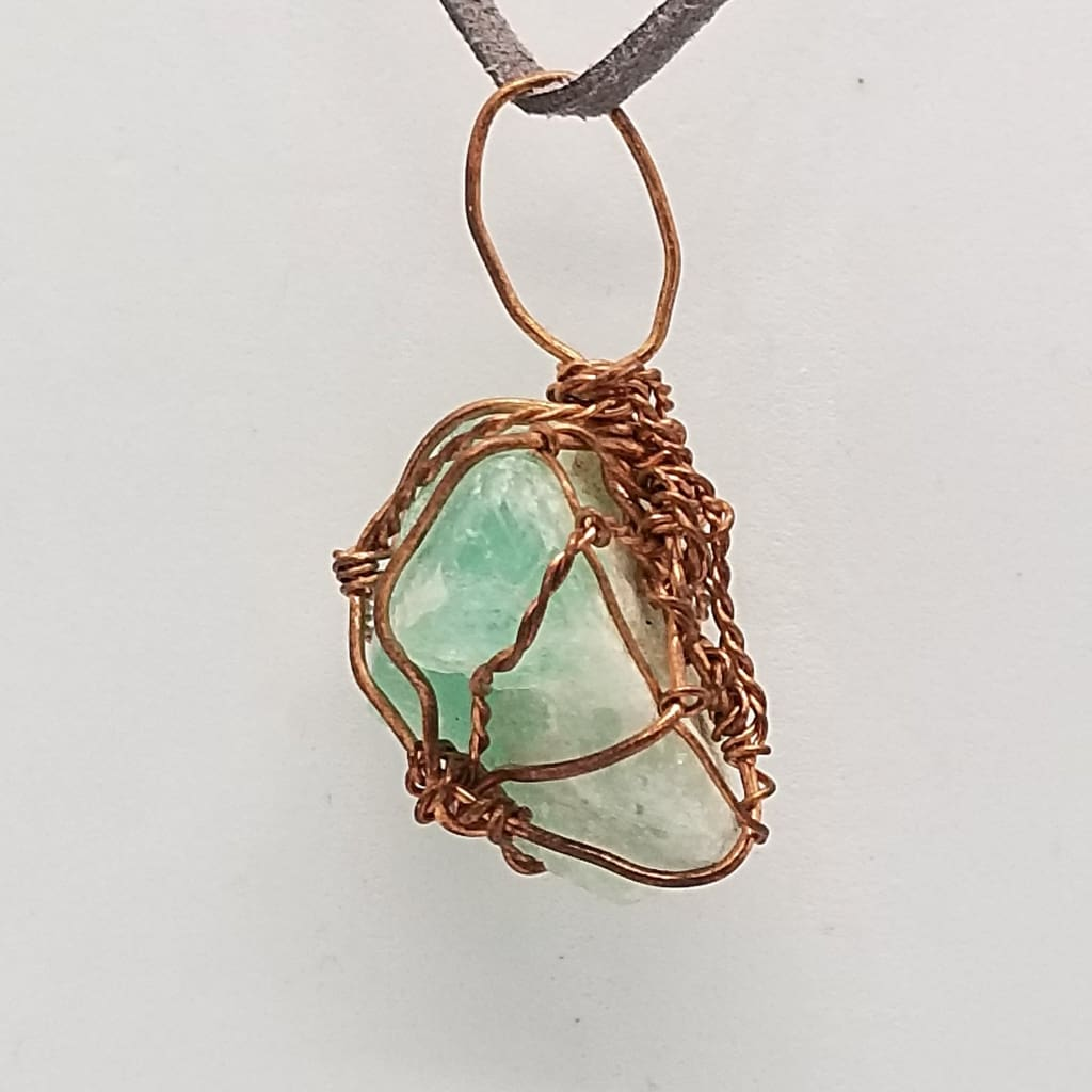 Green Fluorite - Wire Wrap
