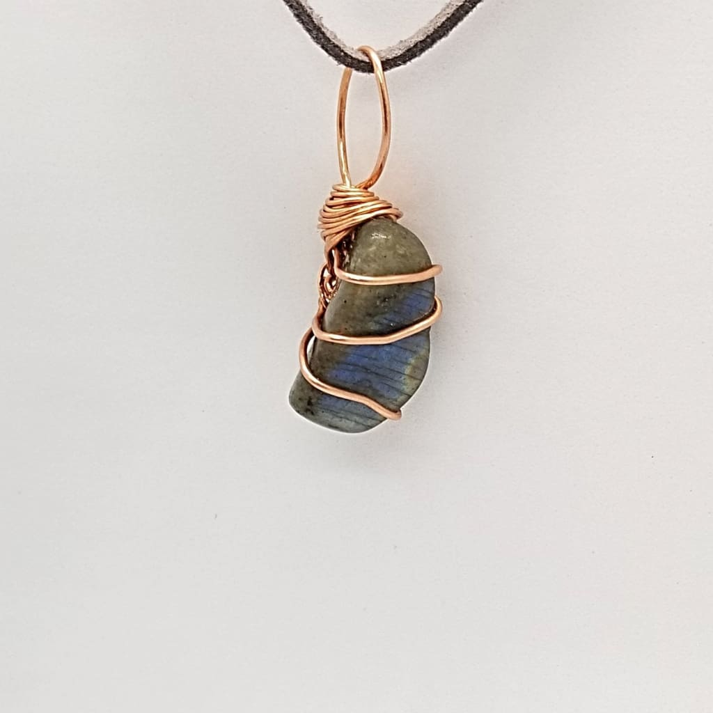 Labradorite- Tumbled - Wire Wrap