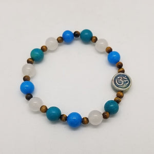 Mountain Jade White Jade & Tigers Eye - Crystal Bead Bracelets