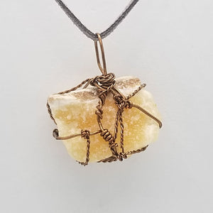 Orange Calcite - Wire Wrap