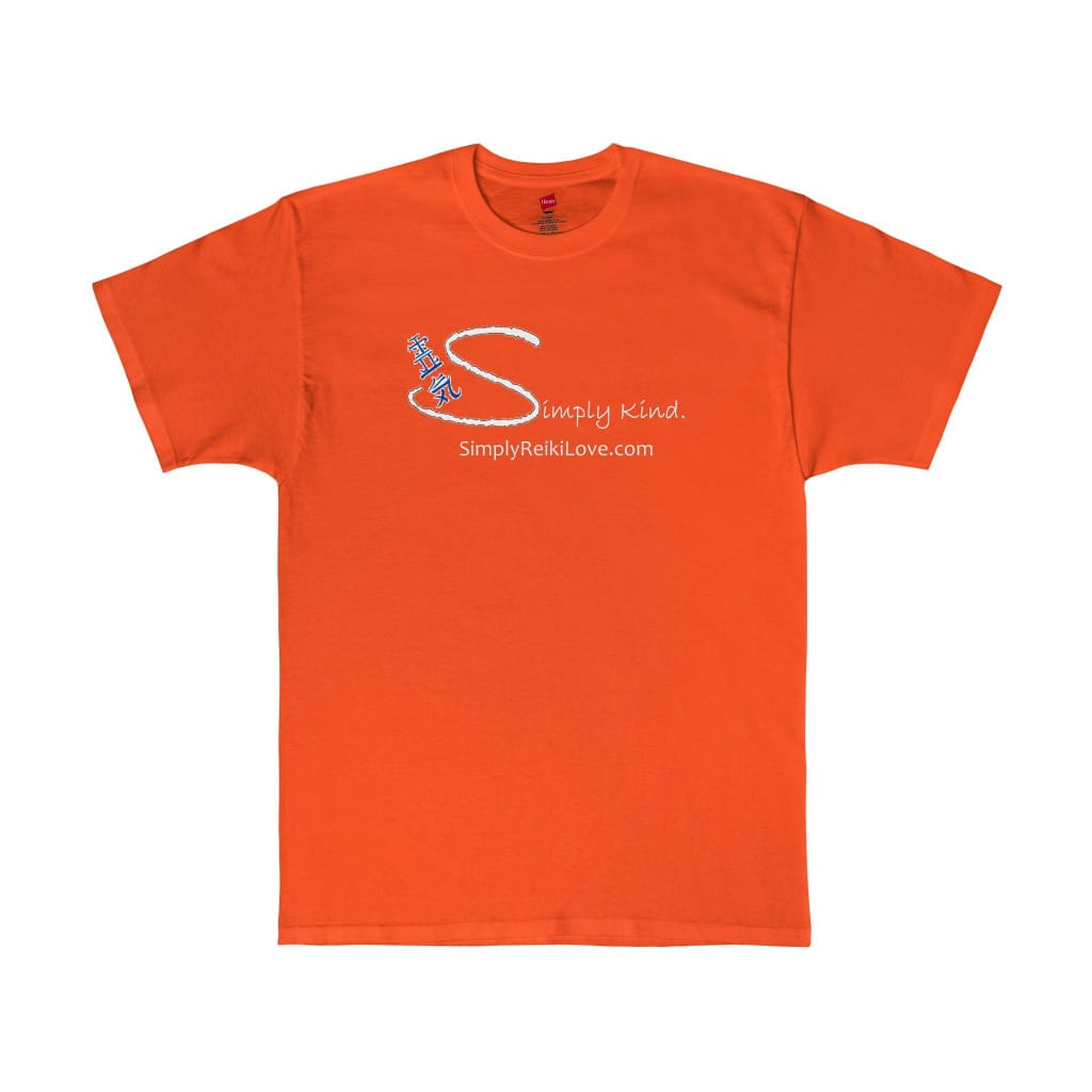 Simply Kind Comfy Tagless Tee - Orange / S - T-Shirt