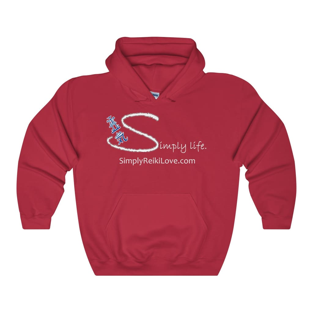 Simply Life. Comfy Heavy 50/50 Blend Hooded Sweatshirt - Cherry Red / S - Hoodie