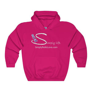 Simply Life. Comfy Heavy 50/50 Blend Hooded Sweatshirt - Heliconia / S - Hoodie