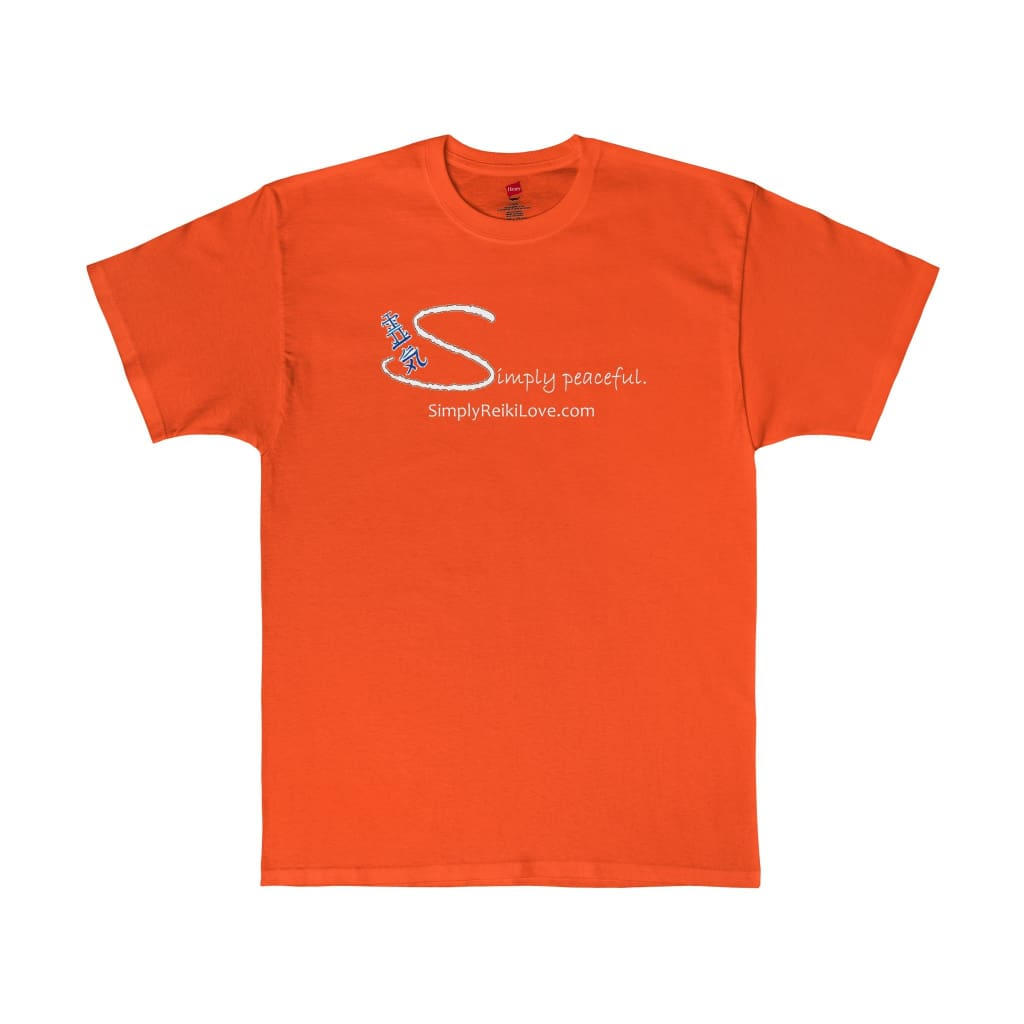 Simply Peaceful. Comfy Tagless T-Shirt - Orange / S - T-Shirt