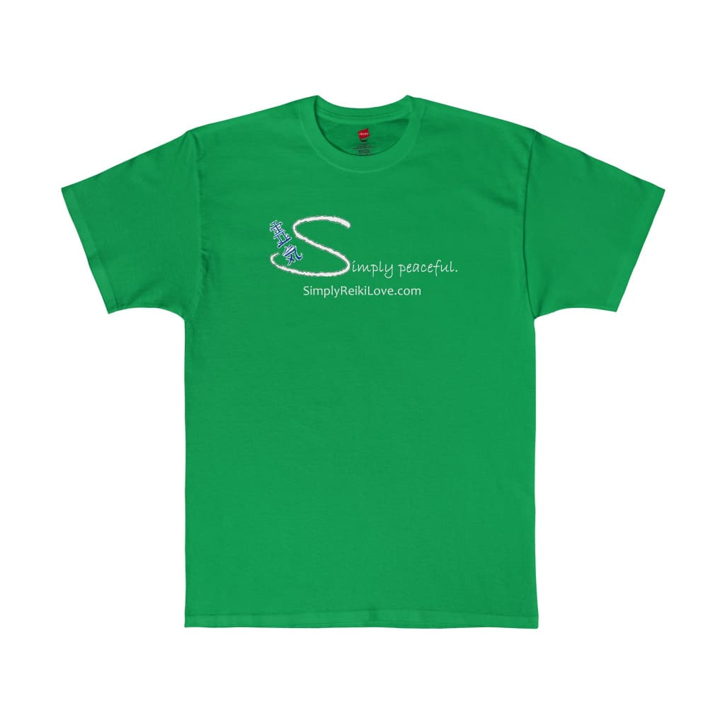Simply Peaceful. Comfy Tagless T-Shirt - Shamrock Green / S - T-Shirt