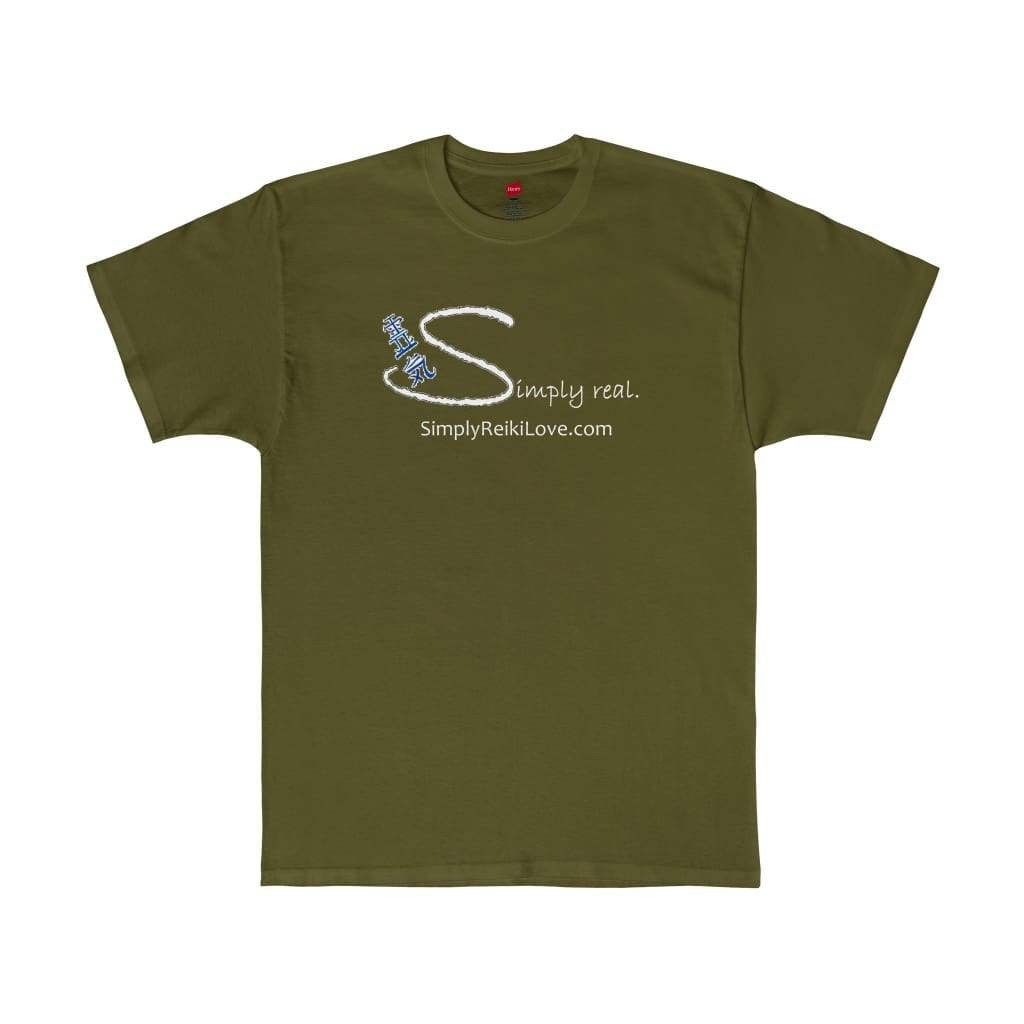 Simply Real. Comfy Tagless T-Shirt - Fatigue Green / S - T-Shirt